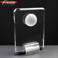 "Fusion Crystal 7"" Golf Plaque & Chrome Base"
